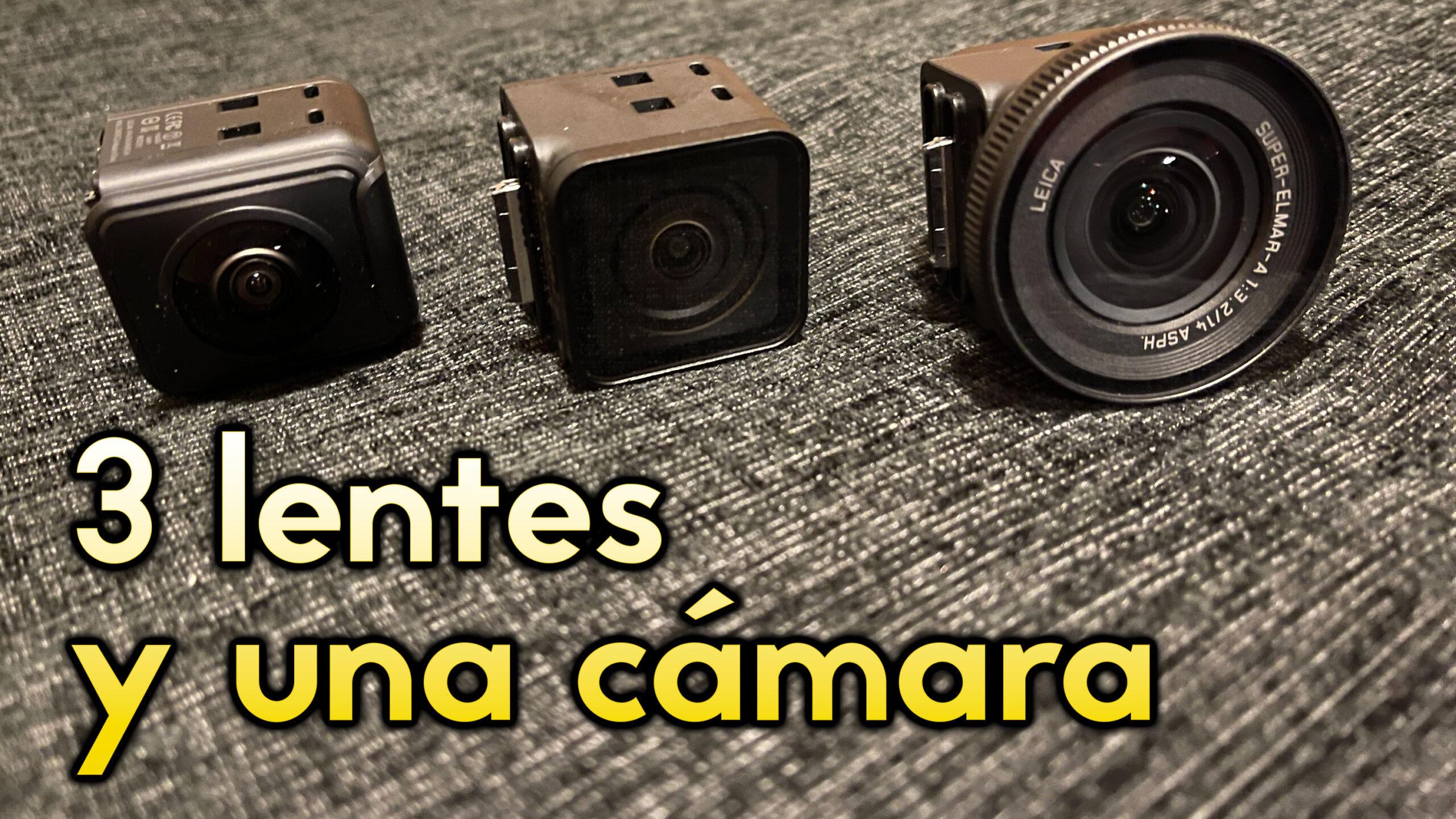 Las tres lentes de la Insta360 One R a fondo